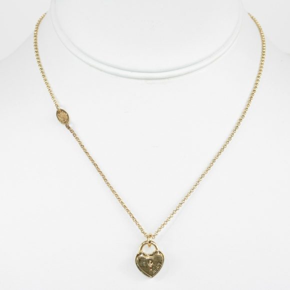 Juicy couture jewelry necklace heart lock pendant poshmark juicy couture necklace heart lock pendant aloadofball Gallery